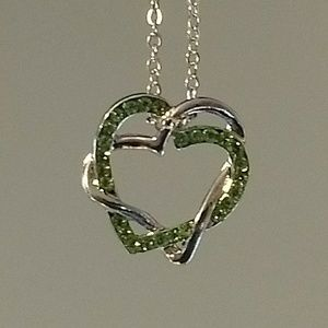 DOUBLE HEART NECKLACE - love jewelry crystals